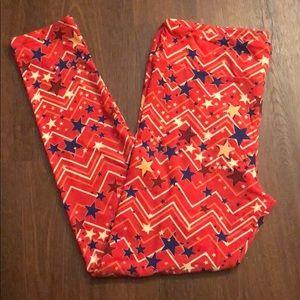 Lularoe tc Labor Day 4th of July leggings